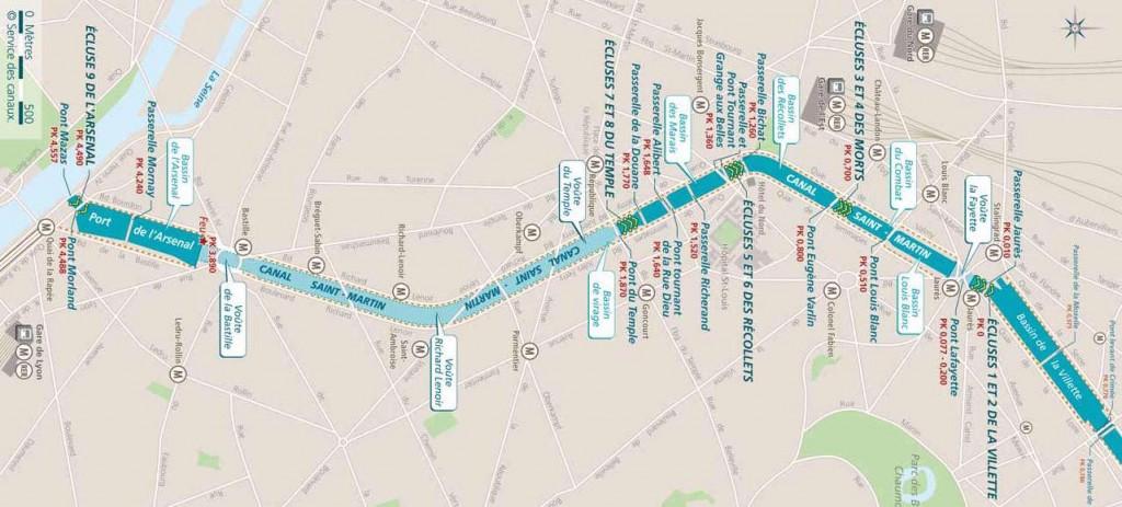 balade canal saint martin paris