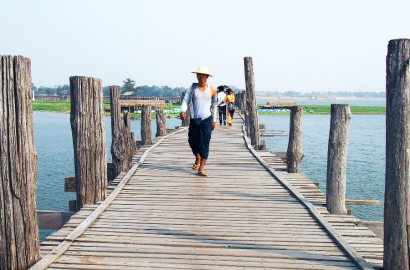 U-Bein Bridge - Mandalay