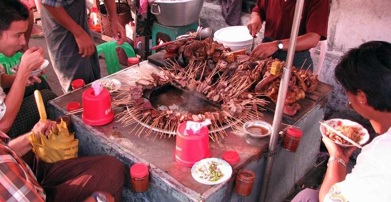 street food Birmanie