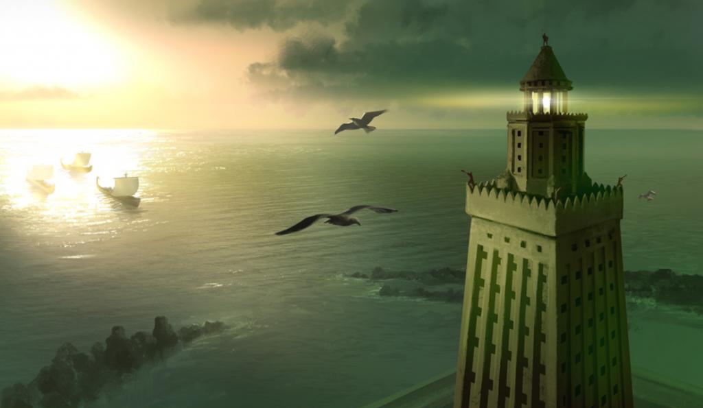 Phare d'Alexandrie 7 merveilles monde