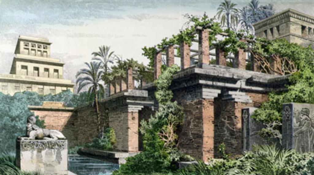 Jardins de Babylone 7 merveilles monde