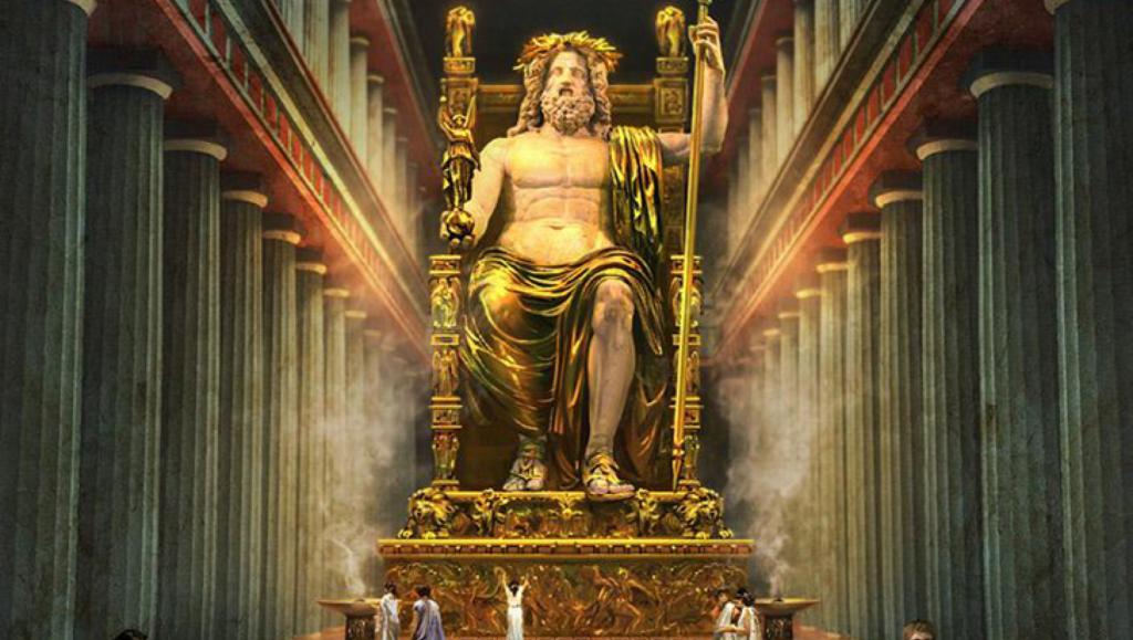 Statue de Zeus 7 merveilles monde