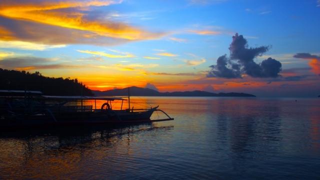 coucher soleil port barton philippines