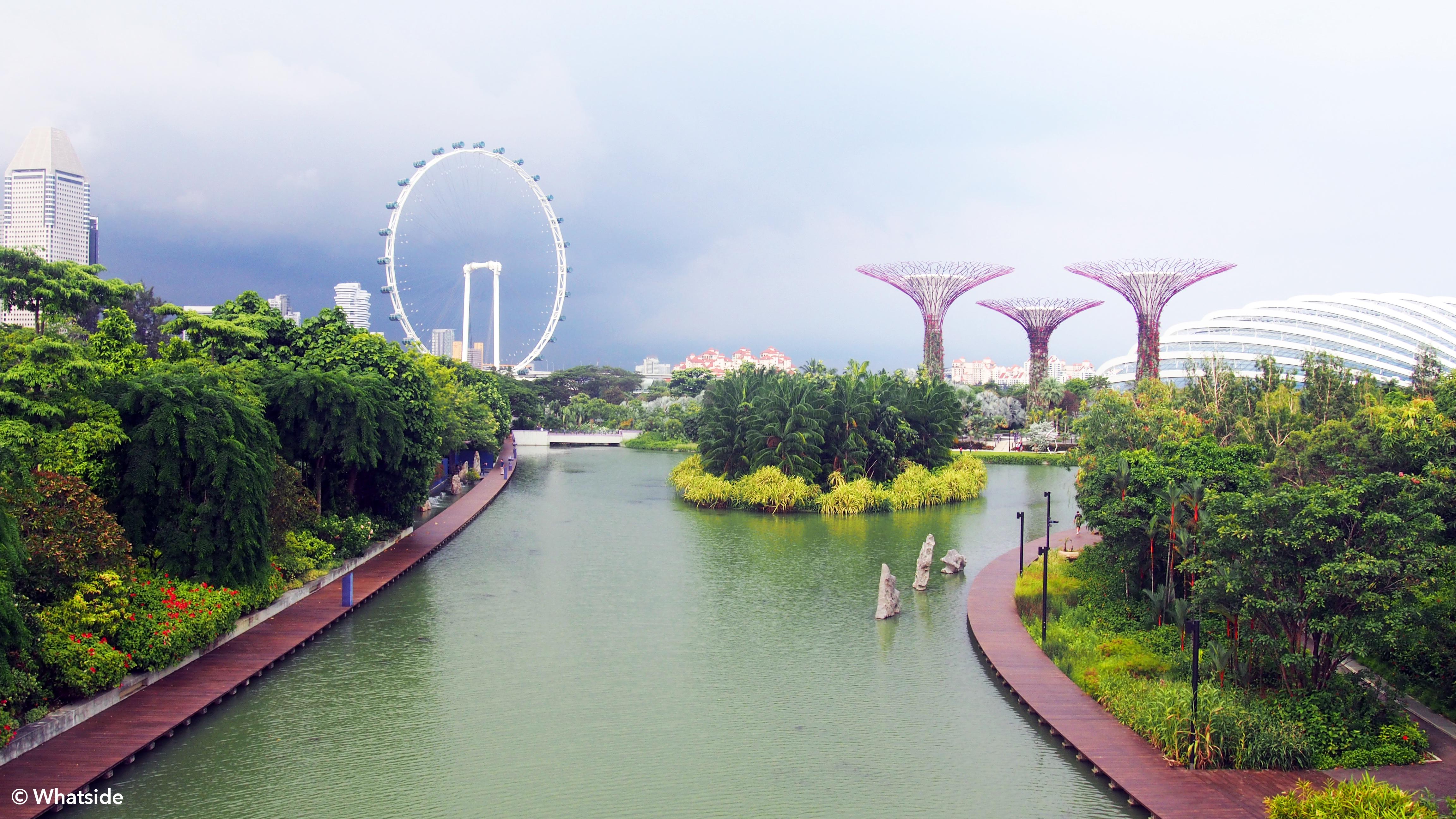 Vue sur le Lyer et Gardens by the bay - Singapour