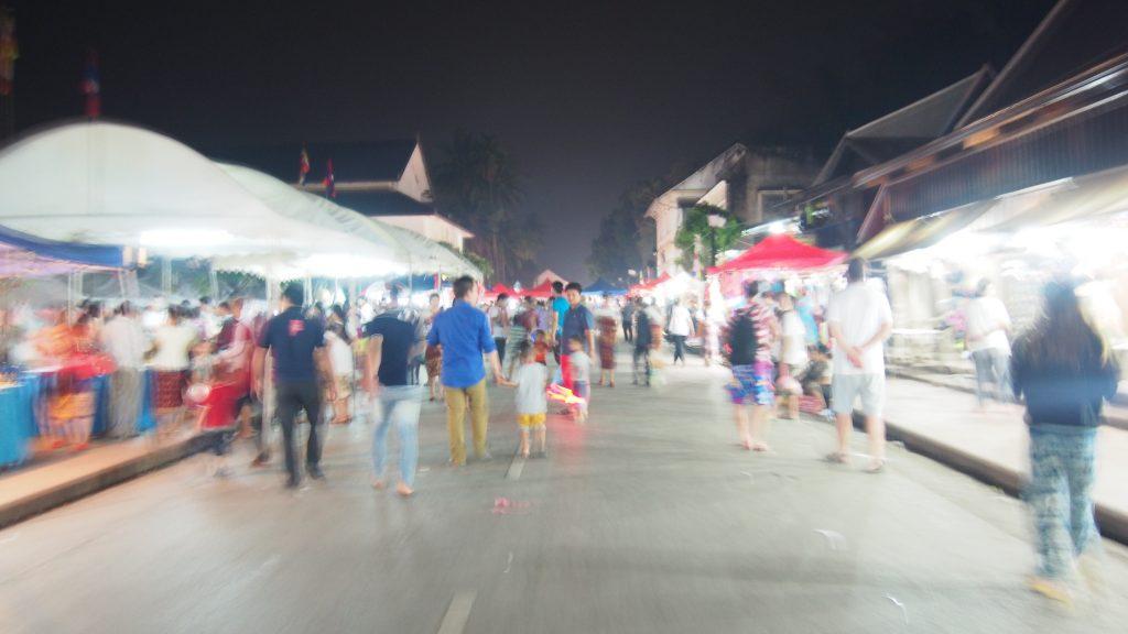 Marché de nuit Luang Prabang Whatside