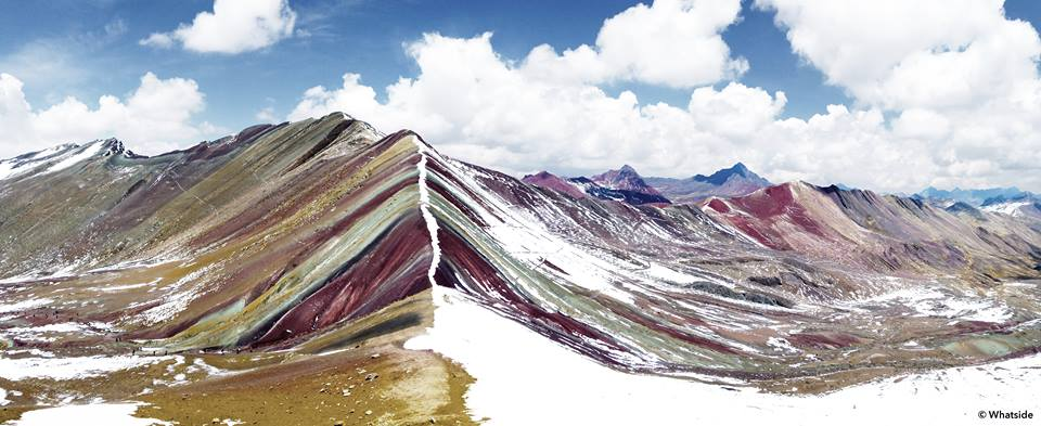 Rainbow mountains perou