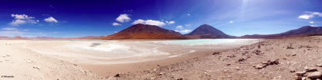 Les Laguna Verde et Laguna Blanco du Sud Lipez