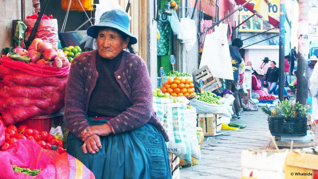 femme marché cuzco San pedro